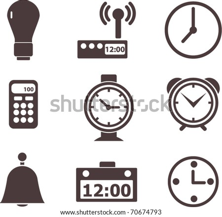 time signs. vector - stock vector
