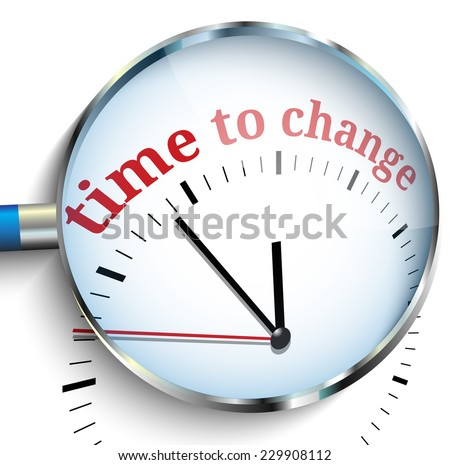 Time to change - stock vector