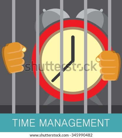 time under control illustration concept - stock vector