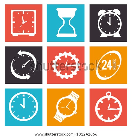 time watch over white background vector illustration