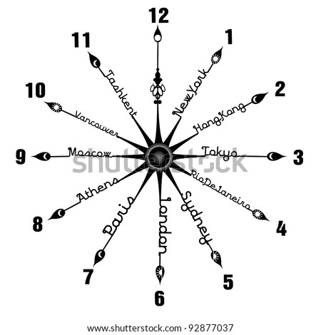 Time zone - stock vector