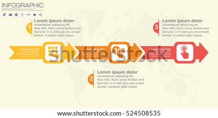 Timeline arrow vector infographic world map stock vector 524508535 timeline and arrow vector infographic world map background gumiabroncs Gallery