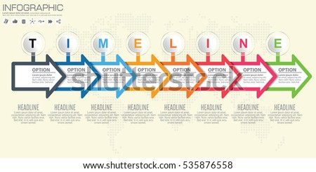 Timeline arrow vector infographic world map stock vector 535876558 timeline and arrow vector infographic world map background gumiabroncs Gallery