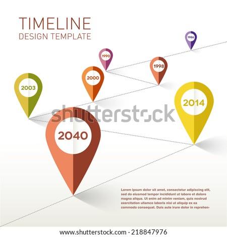 Timeline design template. Vector Illustration. - stock vector