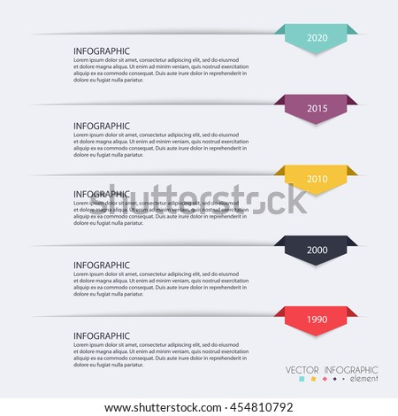 Timeline Infographic Design Templates. Charts, Diagrams and other Vector Elements for Data and Statistics Presentation - stock vector