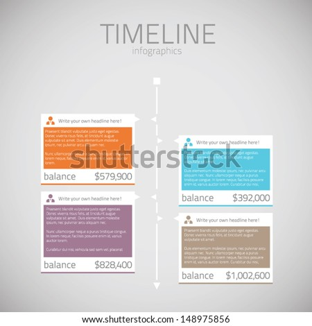 Timeline infographic template vector - stock vector