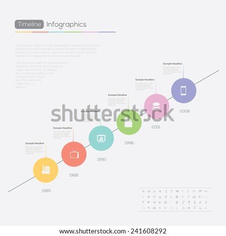Timeline Infographic. Vector design illustration template. - stock vector