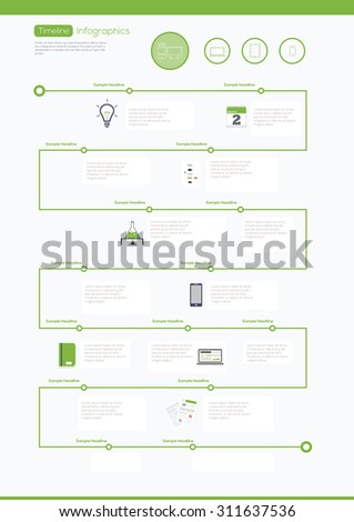 Timeline Infographic. Vector design template.  - stock vector
