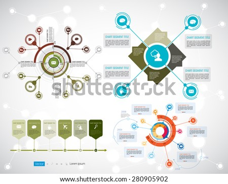 Timeline Infographics. Vector design template. - stock vector