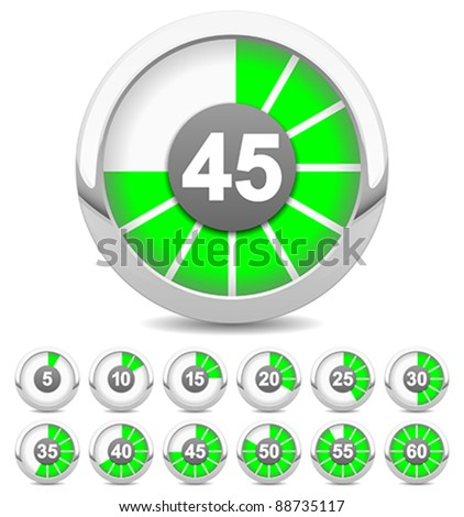 timer - stock vector
