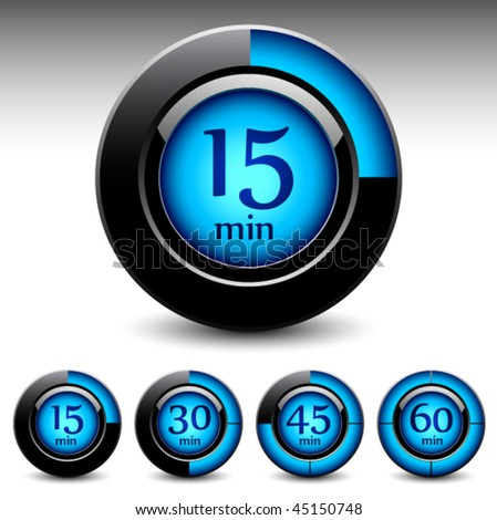 Timer display interfase. Vector - stock vector