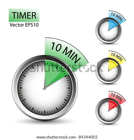 timer of 10 minutes vector set easy to edit