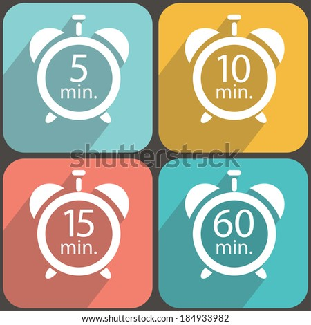 Timers colorful - stock vector