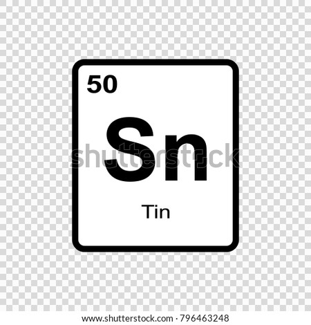 Tin chemical element sign atomic number stock vector 796463248 tin chemical element sign with atomic number chemical element of periodic table urtaz Image collections