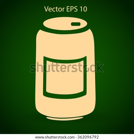 Tin icon. Vector illustration