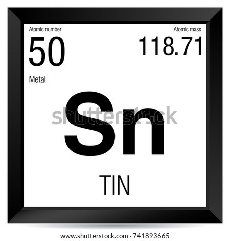 Tin symbol element number 50 periodic stock vector 741893665 tin symbol element number 50 of the periodic table of the elements chemistry urtaz Image collections