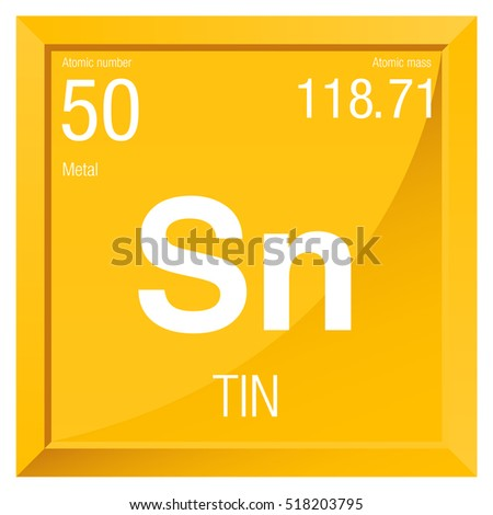 Tin symbol element number 50 periodic stock vector 518203795 tin symbol element number 50 of the periodic table of the elements chemistry urtaz Image collections