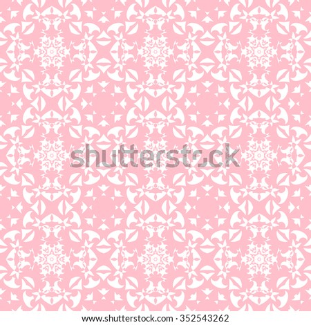 Tints of Pink Seamless pattern, Abstract Seamless pattern, Vector Seamless pattern. Repeating geometric, Seamless floral pattern - stock vector