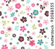 tiny floral seamless pattern - stock photo