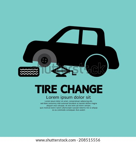 Tire Changing Graphic Vector Illustration - stock vector
