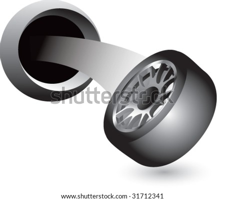tire coming out of hole