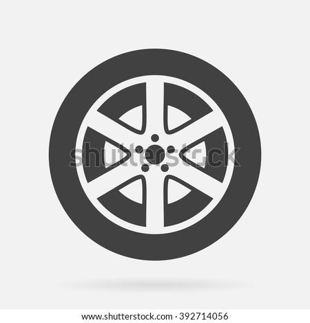 Tire icon - stock vector