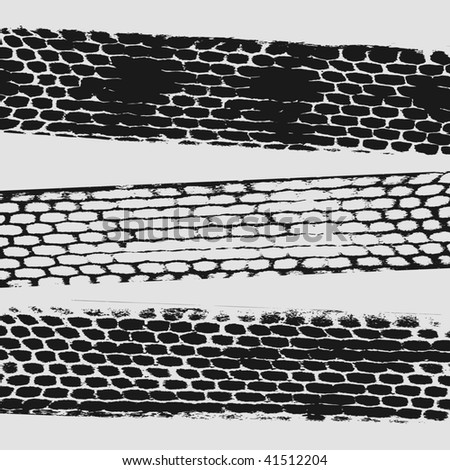 tire traces - stock vector