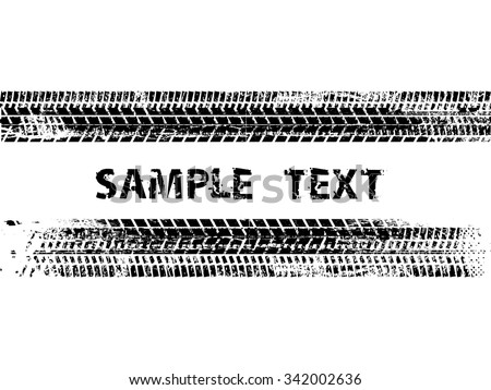 Tire Track . Grunge Banner . Tire tread .Vector Print Textured Tire Track . - stock vector