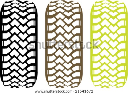 Tire Track Off Road. vector. - stock vector