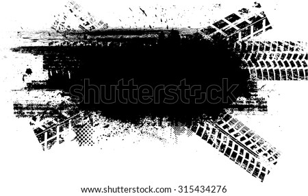 Tire Track . Vector Print Textured Tire Track . - stock vector
