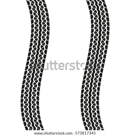 tire tracks isolated on white background stock photo photo vector rh shutterstock com tire track vector brush bike tire track vector