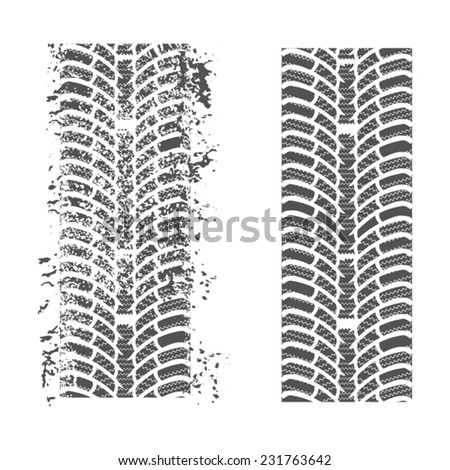 Tire tracks. Vector on a white background for your design  - stock vector