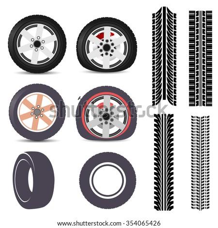 Tires - stock vector