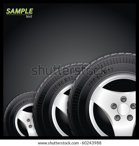 Tires - stock vector