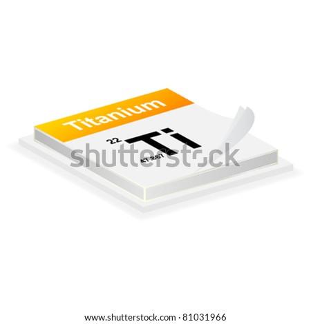 titanium button - stock vector