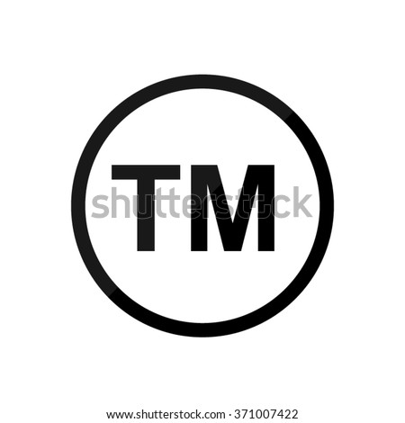 tm -  black vector icon - stock vector