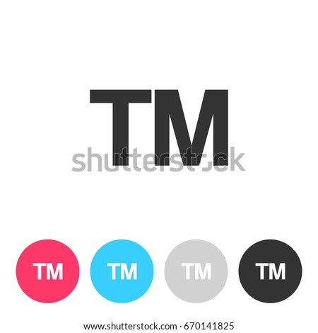 Tm Trade Mark Sign Isolated On Stock Vector 2018 670141825