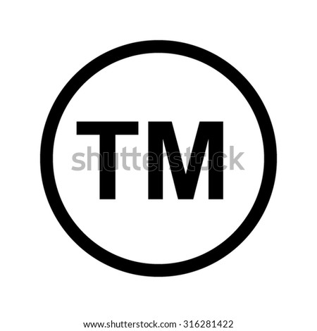 tm  - vector icon - stock vector