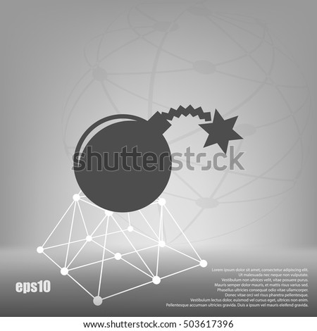 TNT bomb flat icon stock vector illustration