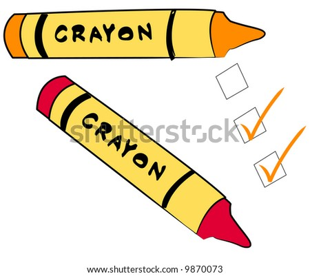 to do check boxes with crayons - vector - stock vector