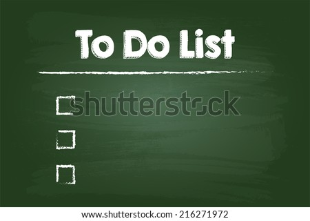 To Do Check List On Green Board - stock vector