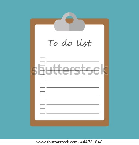 To do list concept flat icon - stock vector