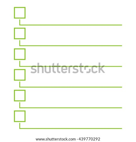 To do list. Lines with check boxes. checklist for note. consent. checkmark. election and voting. yes mark. Todo tick. Vector. Checkbox. - stock vector