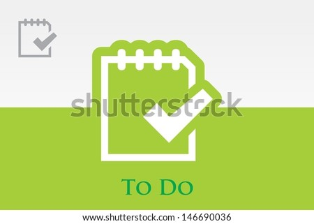 to do list on note Icon - stock vector