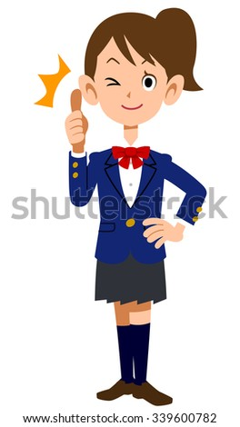 To sum up Schoolgirls - stock vector