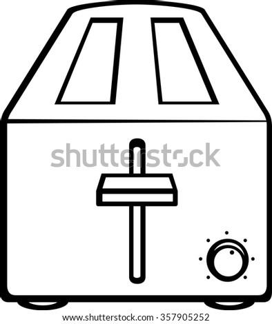 toaster - stock vector
