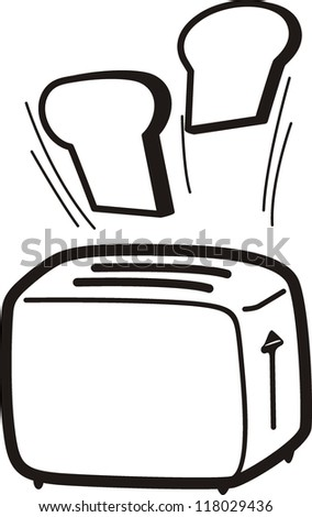 Toaster cartoon vector illustration - stock vector