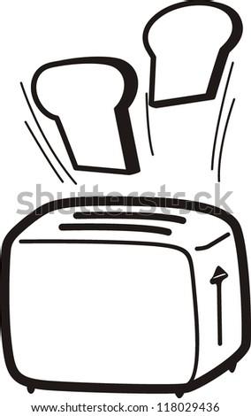 Toaster cartoon vector illustration - stock vector