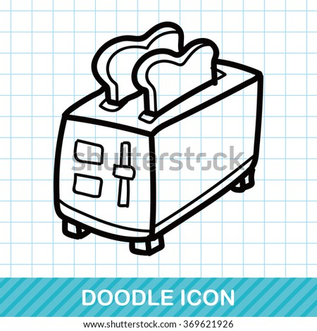 Toaster color doodle - stock vector