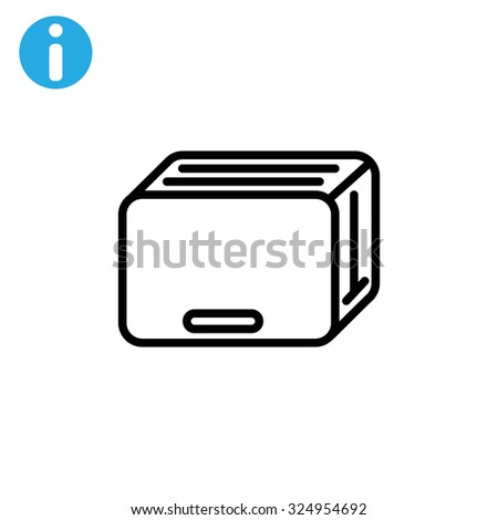 toaster icon - stock vector